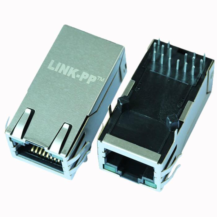 L826-1X1T-23-F 1 Port RJ45 Modular Jack With Magnetics Low Profile