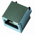 SI-16001-F 10/100 Base-t Vertical RJ45 Connector With Magnetics
