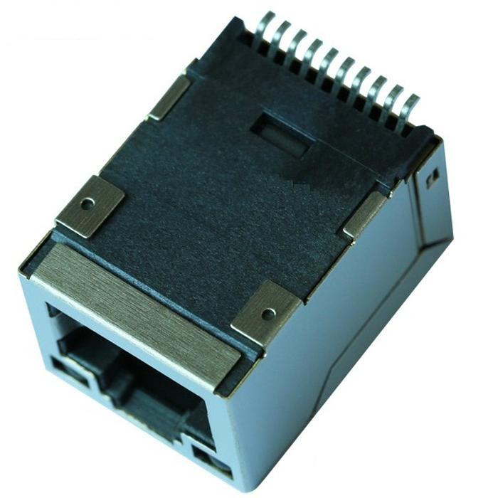 HR961160C 10/100 Base-t Single Port Surface Mount RJ45 Connector Magjack