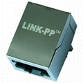 SI-61007-F 1000 Base-T RJ45 Modular Jack With Integrated Magnetics