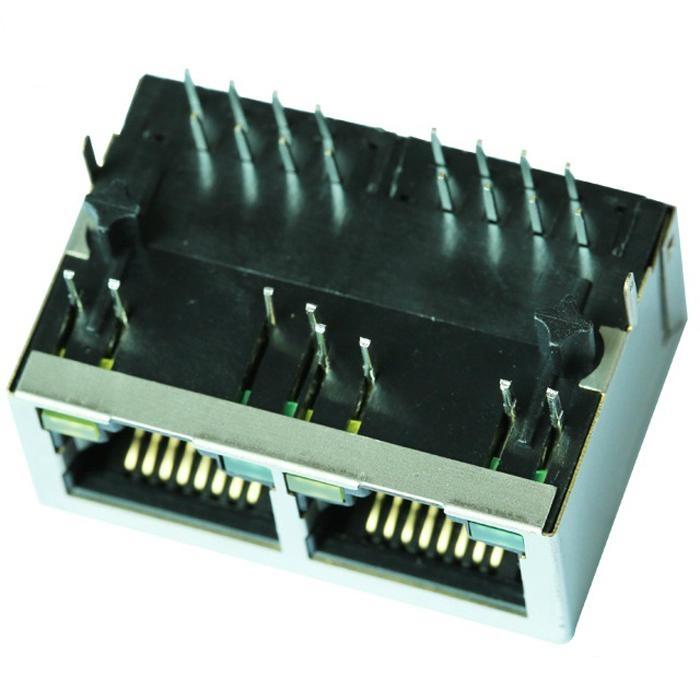 SI-60238-F/SI-60238-F-R 1X2 10/100 Base-t RJ45 Connector Module