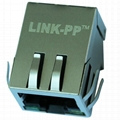 RB1-125BAK1A 10/100/1000 Base-t 1 Port RJ45 Magnetic Jack With LED
