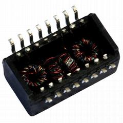 TG110-E050N5RL/TG110-E050N5LF Single Port 10/100 BASE-TX SMD Lan Transformer