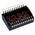 SM51589L Quad Port 10/100/1000 Base-T Transformer Modules & PoE