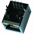 LU1S041X-43 LF Single Port RJ45 Female Socket With Integrated Magnetics