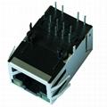 JP011821UNL 100 Base-TX 1 Port RJ45 Shielded Connector