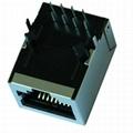 J00-0042NL 10/100 Base-TX 1X1 Port 8 Pin RJ45 Connector