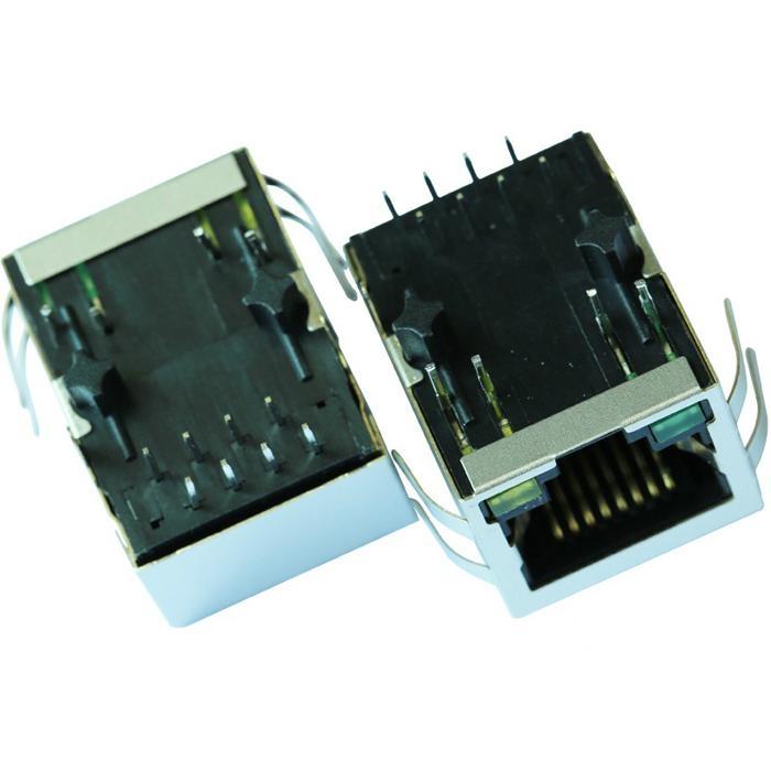 J00-0051NL Tab-Down 1 Port RJ45 8 Pin Female Connector