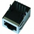 HY901168C 10/100 Base-t 1 Port RJ45 Ethernet Jack With Magnetics