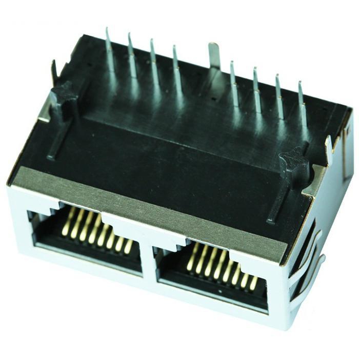 HR901205C 10/100 Base-t 1X2 RJ45 Connector Integrated Magnetics