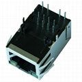 5-6605758-8 Tab Up 1X1 RJ45 Connector Female With Magnetics