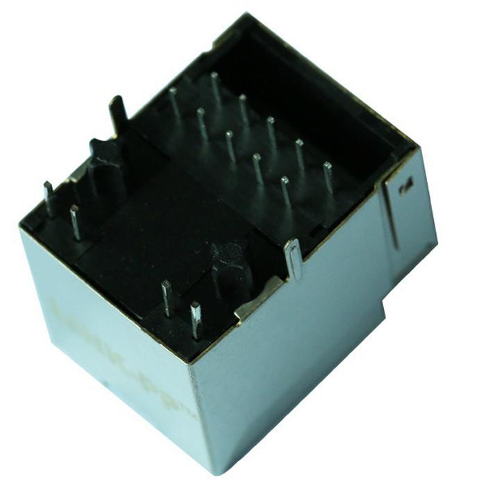 1840417-3 Gigabit Single Port Vertical RJ45 Connector With Magnetics