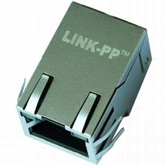 1-6605758-1 Tab Up 1X1 Port RJ45 Magnetic Jack