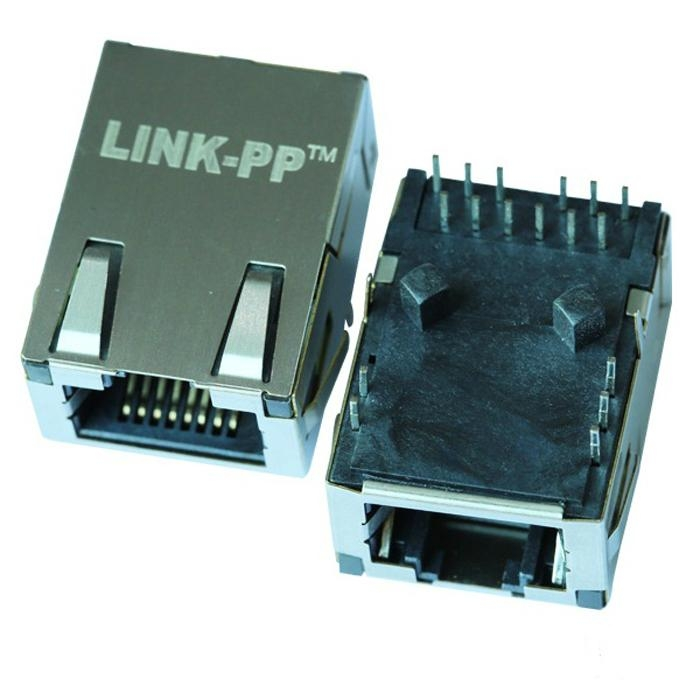 L829-1D1T-91 Single Port Low-Profile RJ45 Connector With Magnetics Conector