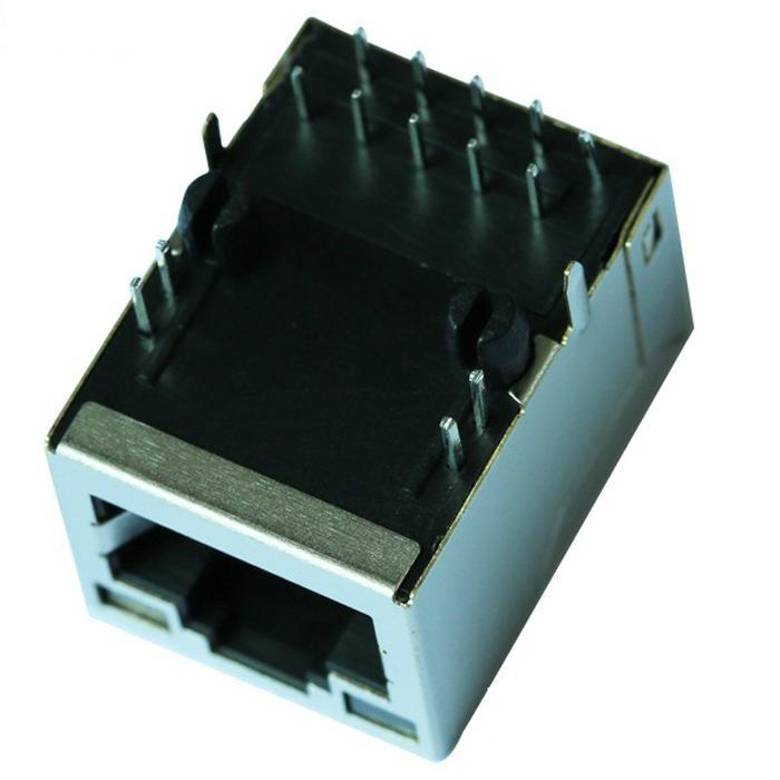 0875-1AX1-E3 Single Port RJ45 8 Pin Female Connector