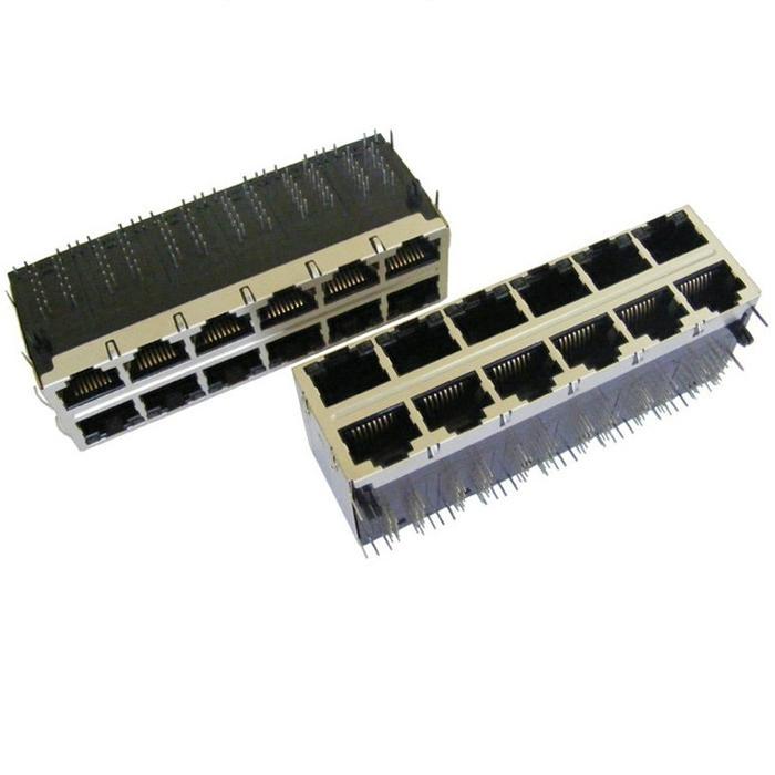 85586-1006 Stacked 2X6 HyperJack 1000 Base-t PoE Modules