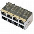 85586-1004 Stacked 2X4 HyperJack 1000 Base-t PoE Modules