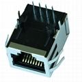 HR891156C 10/100 Base-t 1X1 RJ45 POE Connector With Magnetics Module