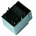 1840469-1 10/100 Base-t RJ45 Single Port Vertical Integrated Magnetics Connector