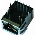 LA1S109-43LF RJ45 Female Connector Tab-down Gigabit Ethernet Jack with LEDs