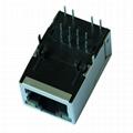 LF1S022-34 10/100 BASE-T RJ45 Modular Plug With Magnetics