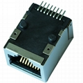 J0C-0004NLT SMT Single RJ45 Connector Module With Integrated Magnetics