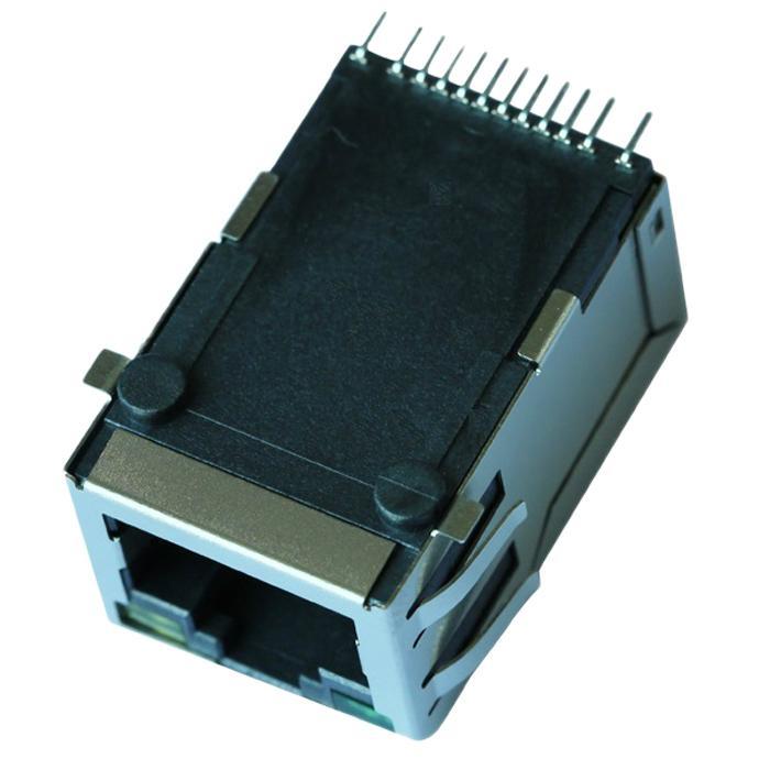 RJSL-002TC1 SMT RJ45 Connector with 10/100 Base-T Integrated Magnetics