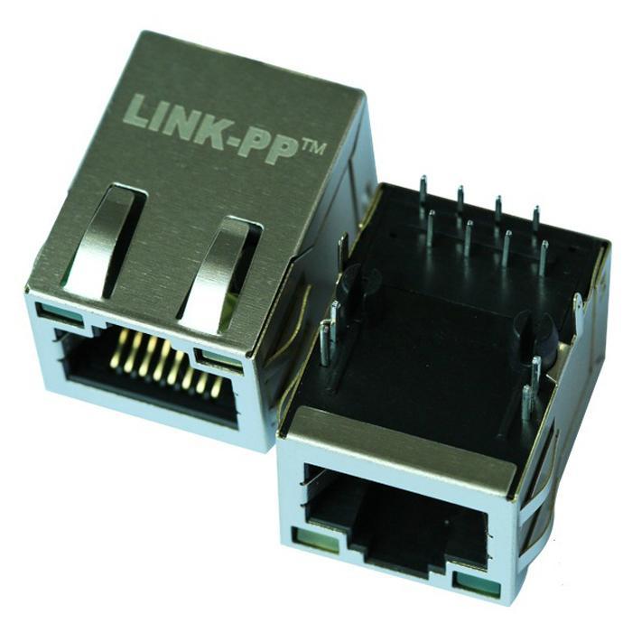 1-6605832-1 10/100 Base-T 1 Port RJ45 Modular Jack with Integrated Magnetics