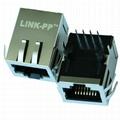 J0006D21NL Single Port RJ45 Connector with 10/100 Base-T Integrated Magnetics