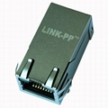 0826-1X1T-43-F 1000 Base-T 1X1 Port RJ45 Connector with Magnetics