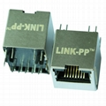 HFJV1-2450-L11RL Vertical RJ45 Connector