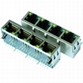 J8064D648A 1x4 RJ45 Connector with 10/100 Base-T Integrated Magnetics