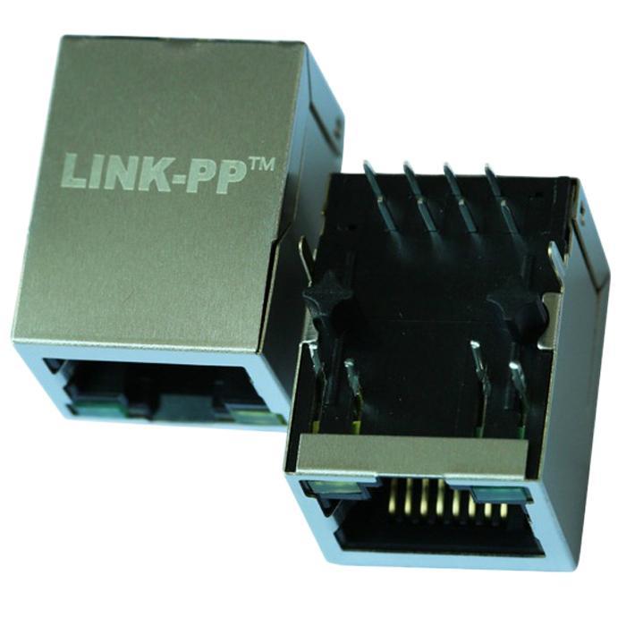 J1012F01CNL100 Base-TX (Fast Ethernet) RJ45 1x1 Tab-UP with LEDs