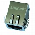 0813-1X1T-23-F Tab Down Single Port RJ45 Modular Plug
