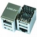 JW0-0006 PULSEJACKTM RJ45/Dual USB Combo