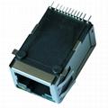 ARJE-0034 SMT 10/100 Base-T Single Port Ethernet RJ45 Jack with Magnetics