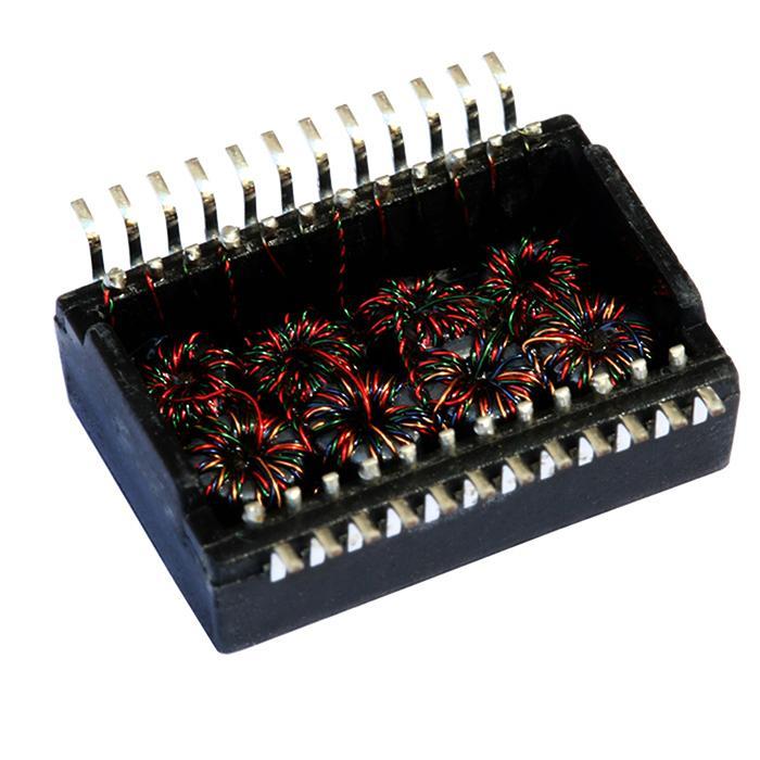 S558-5500-68 SMD Single Port, 1000 BASE-T Ethernet Transformer Modules & PoE