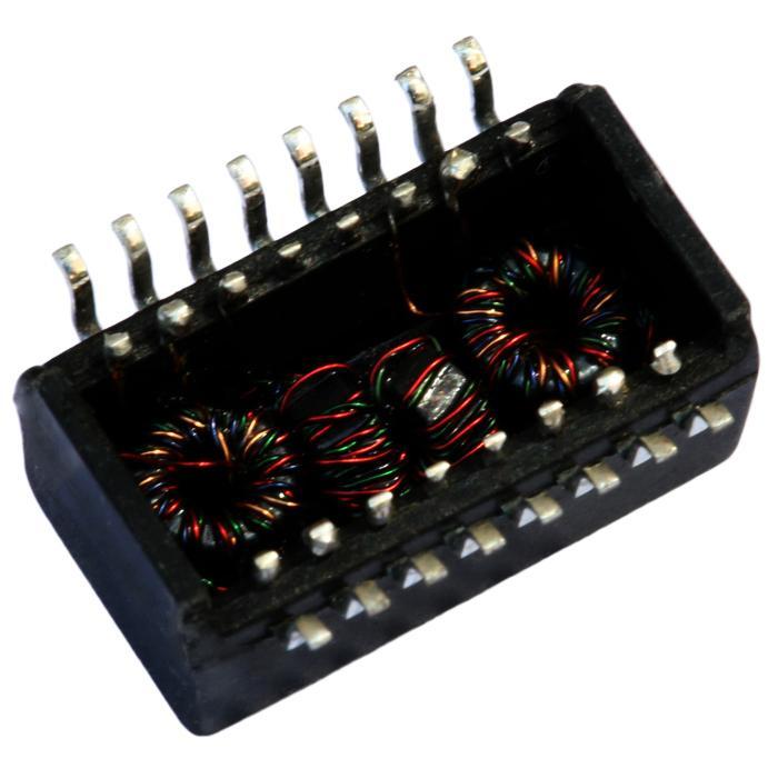 H1117NL Single Port, 10/100 BASE-T Ethernet Transformer Modules, SMD