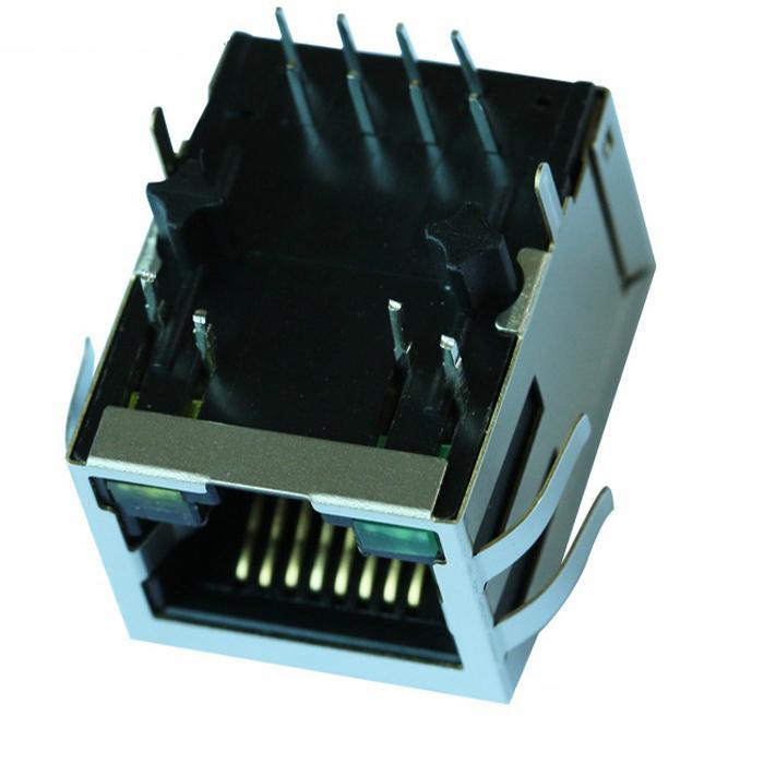 MJF13T36L-KF06B3GY-0808 Single Port 10/100 Base-T RJ45 Jack Module