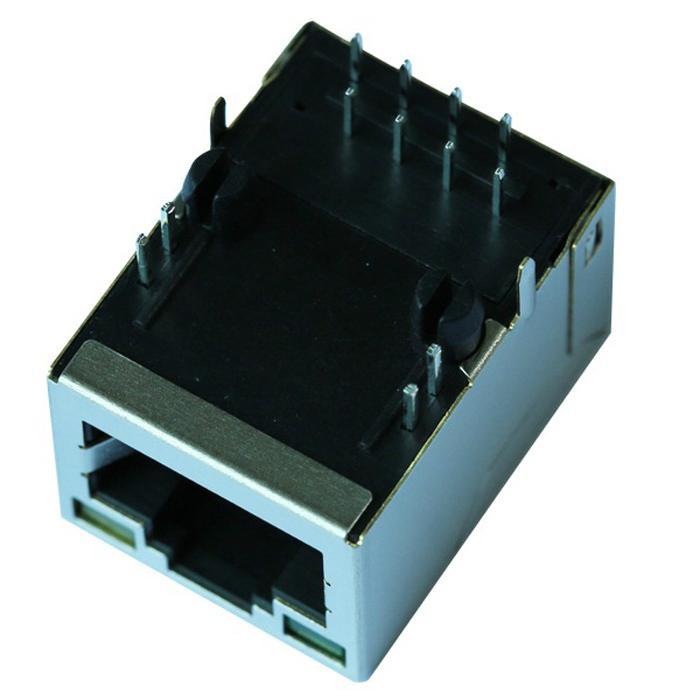 SI-50246-F 10/100 Base-T Single Port RJ45 LED Connector