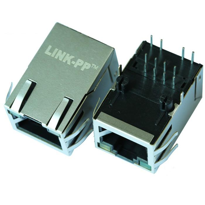 SI-50170-G 1 Port RJ45 Connector Shielded with Integrated Magnetics