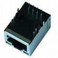 XRJH-01M-4-E11-180 Shielded RJ45 Plug with 10/100 Base-T Transformer