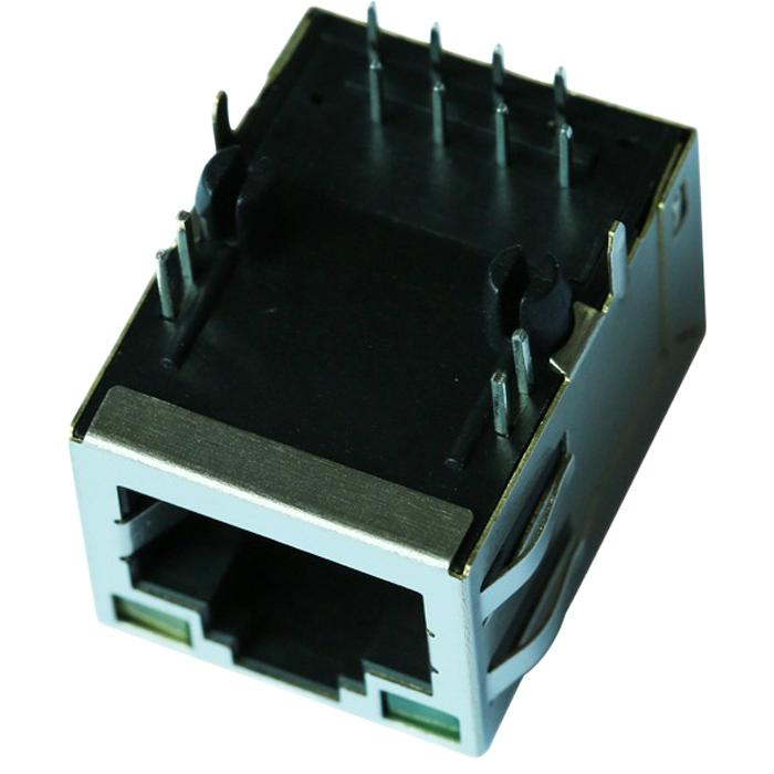 57G-1202RYGD2NL 10/100 Base-T Magnetics Single Port RJ45 Shielded Connector