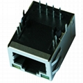 C-6605728 RJ45 Lan Jack with 10/100 Base-T Integrated Magnetics For Switches