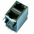 0845-2G1T-H5 10/100 Base-T 2X1 RJ45 Ethernet Jack with Integrated Magnetics