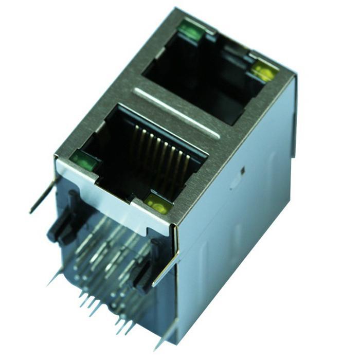 0845-2G1T-H5-F 10/100Base-T 2X1 Ethernet RJ45 Modular Jack