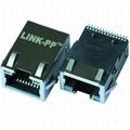 RJSL-0002TC1 10/100 Base-T SMT Shielded RJ45 Connector