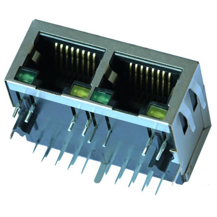 SI-60159-F 10/100 Base-T 2 Port Ethernet RJ45 Connector Female