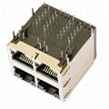 1840865-4 10/100 Base-T Ethernet 2x2 RJ45 Magjack Connector