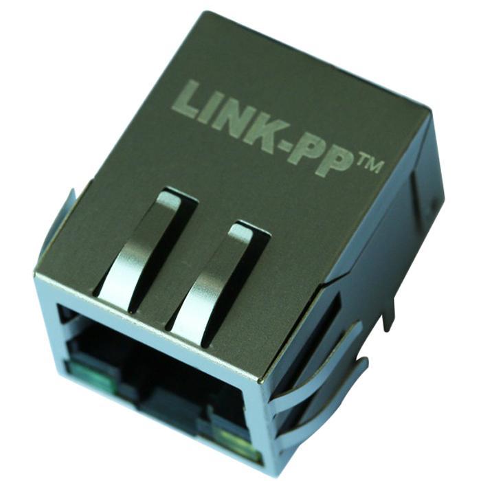48F-01GYD2P2NL   Single Port Shielded RJ45 Plug Connector with Transformer